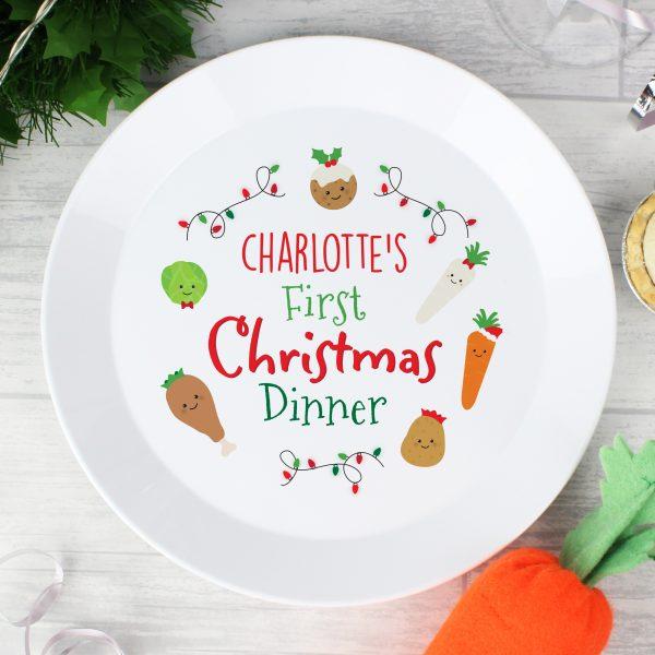 First Christmas Dinner' Plastic Plate