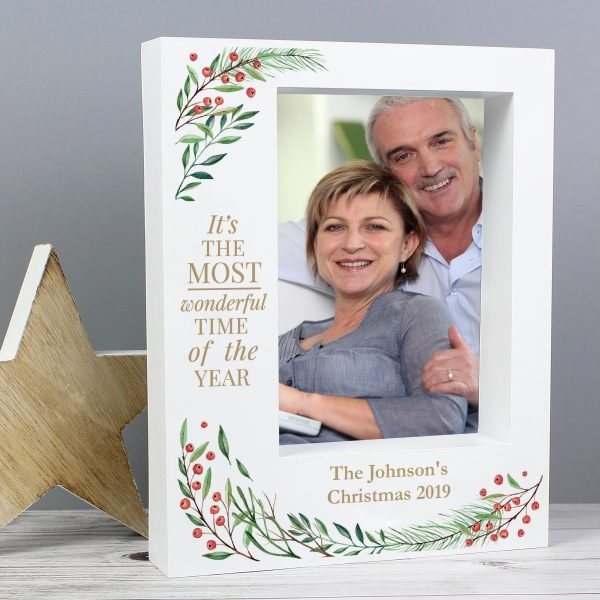 Wonderful Time of The Year Christmas' 7x5 Box Photo Frame