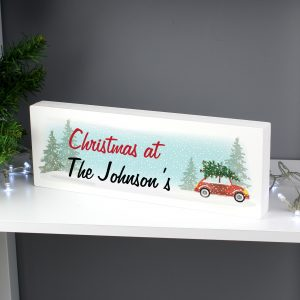 Driving Home For Christmas' Wooden Block Sign