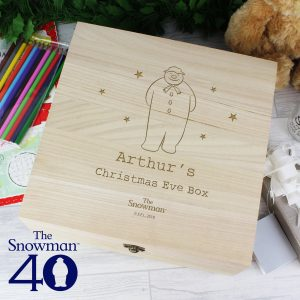 The Snowman Large Wooden Christmas Eve Box