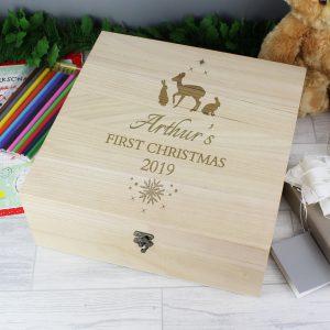 Christmas Large Wooden Keepsake Box