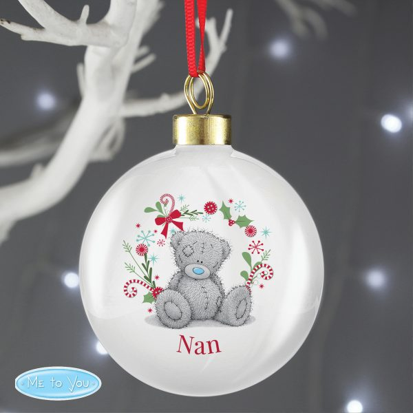 Personalised Me To You 'For Nan, Grandma, Mum' Christmas Bauble