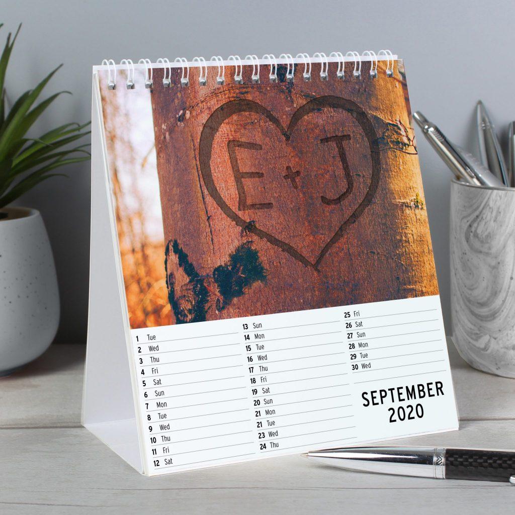 Personalised Couples Desk Calendar