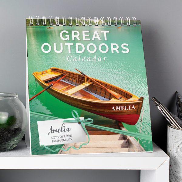 Personalised Outdoors Desk Calendar