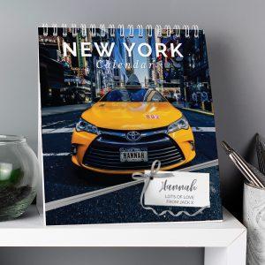 Personalised New York Desk Calendar