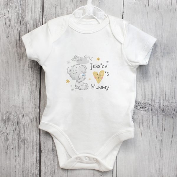 Personalised Tiny Tatty Teddy I Heart 0-3 Months Baby Vest