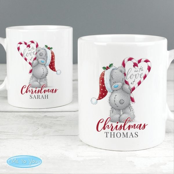 Personalised Me To You 'With Love At Christmas' Couples Mug Set