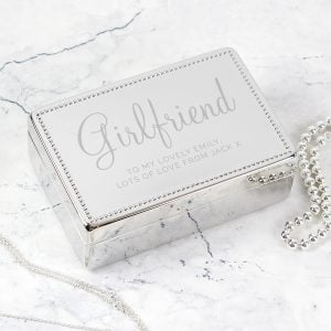 Personalised Rectangular Jewellery Box
