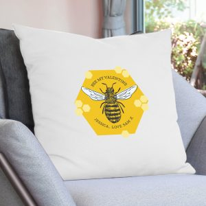 Personalised Bee Cushion Cover