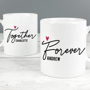 Personalised Together Forever Mug Set