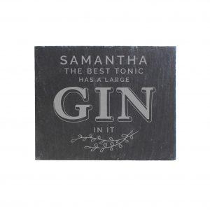 Gin & Tonic Single Slate Coaster