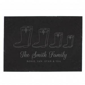 Welly Boot Family of Four Slate
