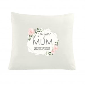 Abstract Rose Cream Cushion Cover