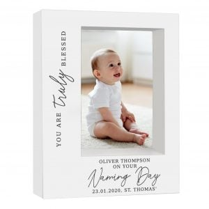 Truly Blessed' Naming Day 7x5 Box Photo Frame