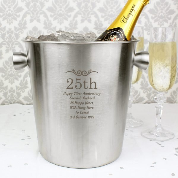Number Frame Stainless Steel Ice Bucket
