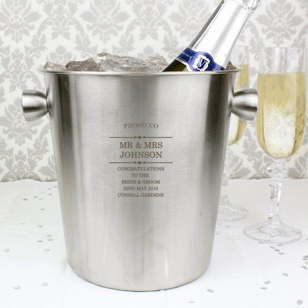 Diamond Stainless Steel Ice Bucket