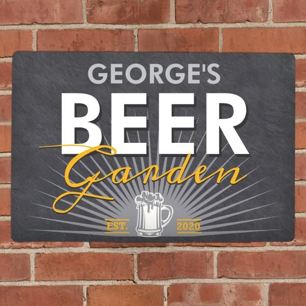 Personalised Beer Garden Metal Sign