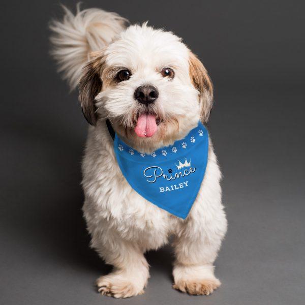 Personalised Prince Dog Bandana