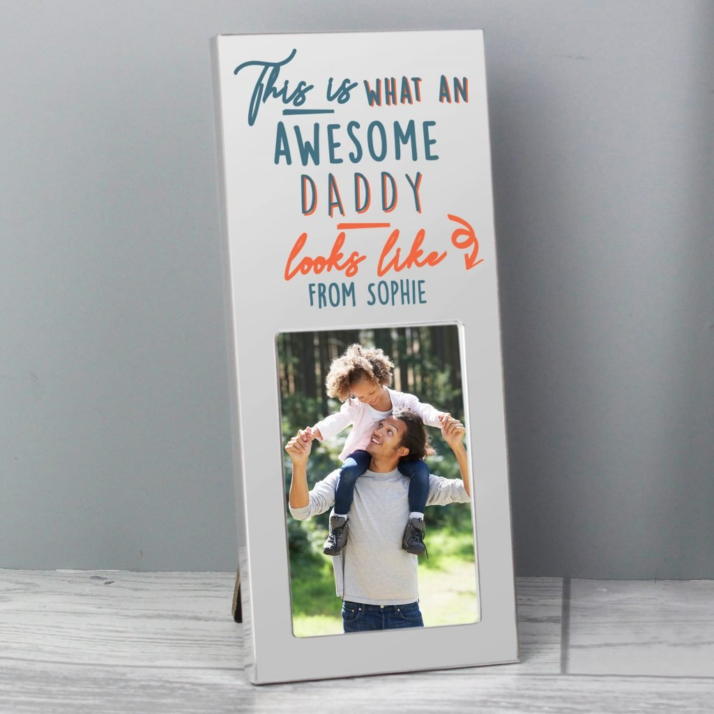 Personalised This Is What Awesome Looks Like Silver 2x3 Photo Frame
