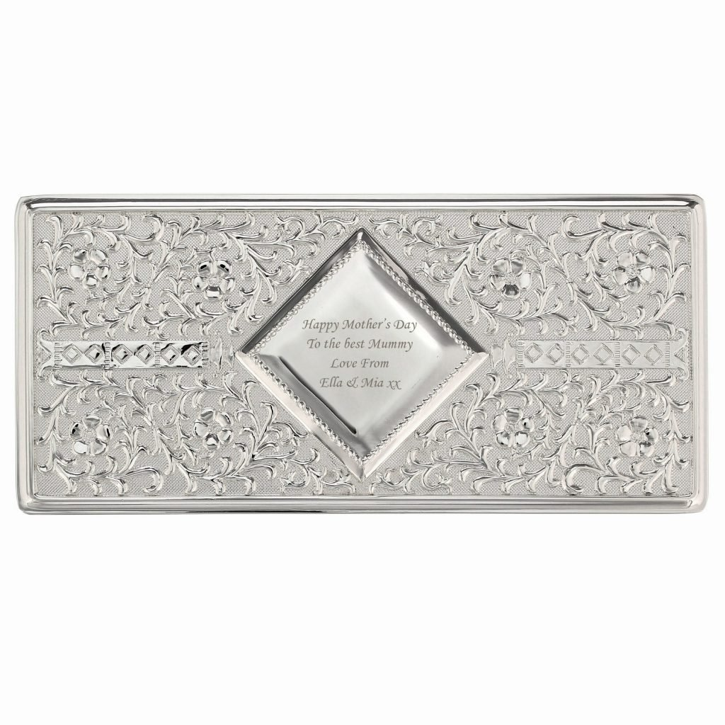 Antique Silver Plated Jewellery Box