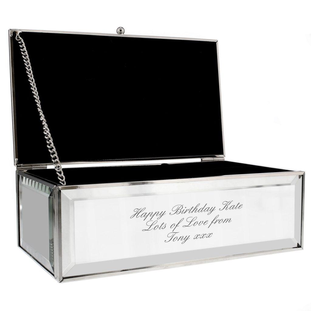 Any Message Mirrored Jewellery Box