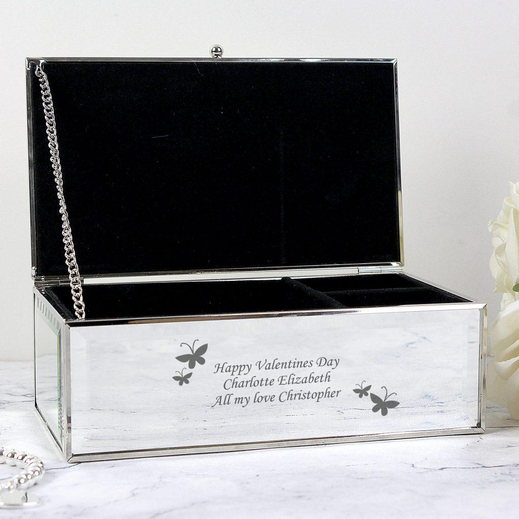 Butterflies Mirrored Jewellery Box