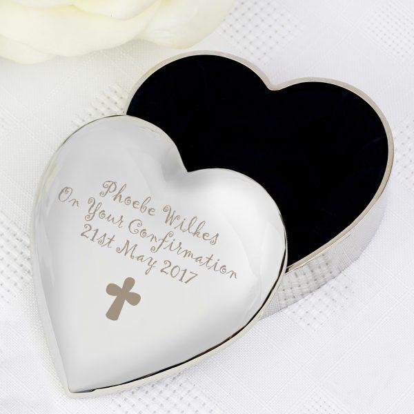 Cross Heart Trinket Box