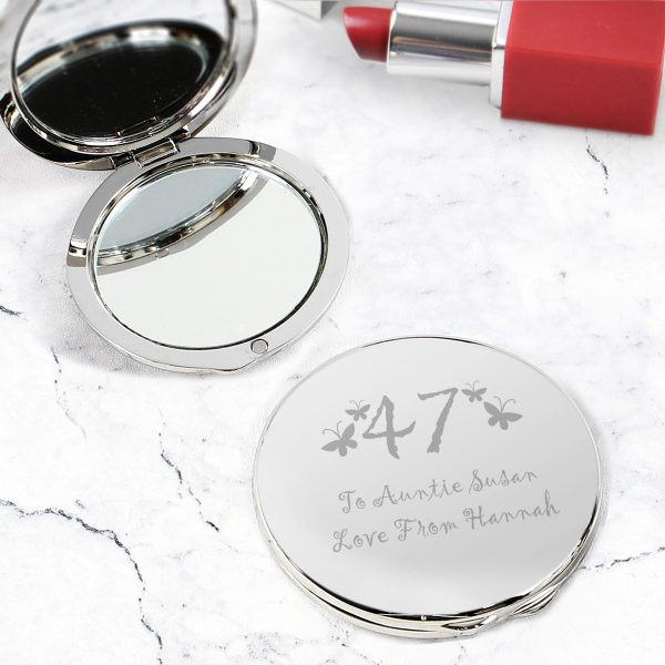Butterfly Age Round Compact Mirror