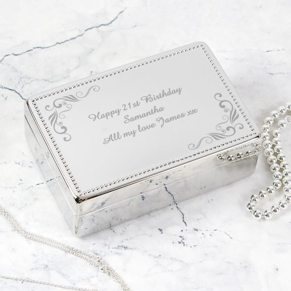 Swirl Rectangular Jewellery Box