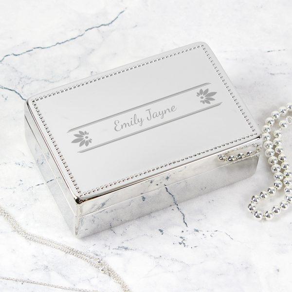 Petals Rectangular Jewellery Box