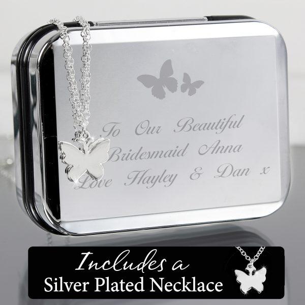 Butterfly Swirl Necklace in Box