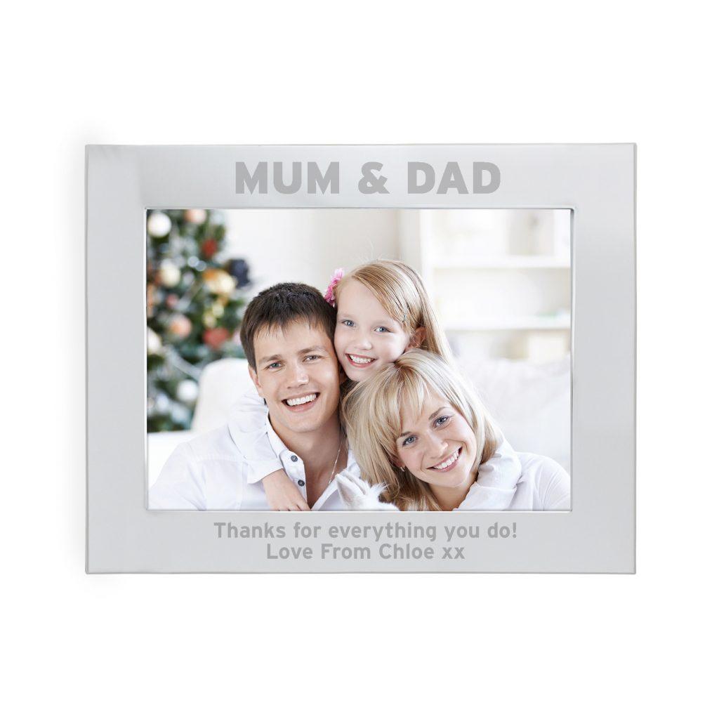 Silver 5x7 Mum & Dad Photo Frame