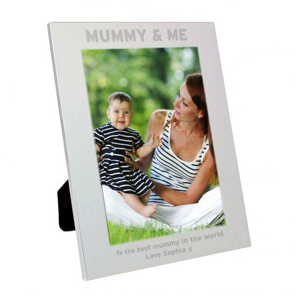 Silver 5x7 Mummy & Me Photo Frame