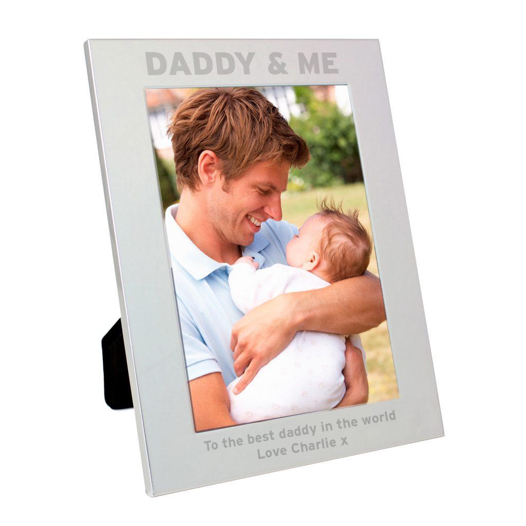 Silver 5x7 Daddy & Me Photo Frame
