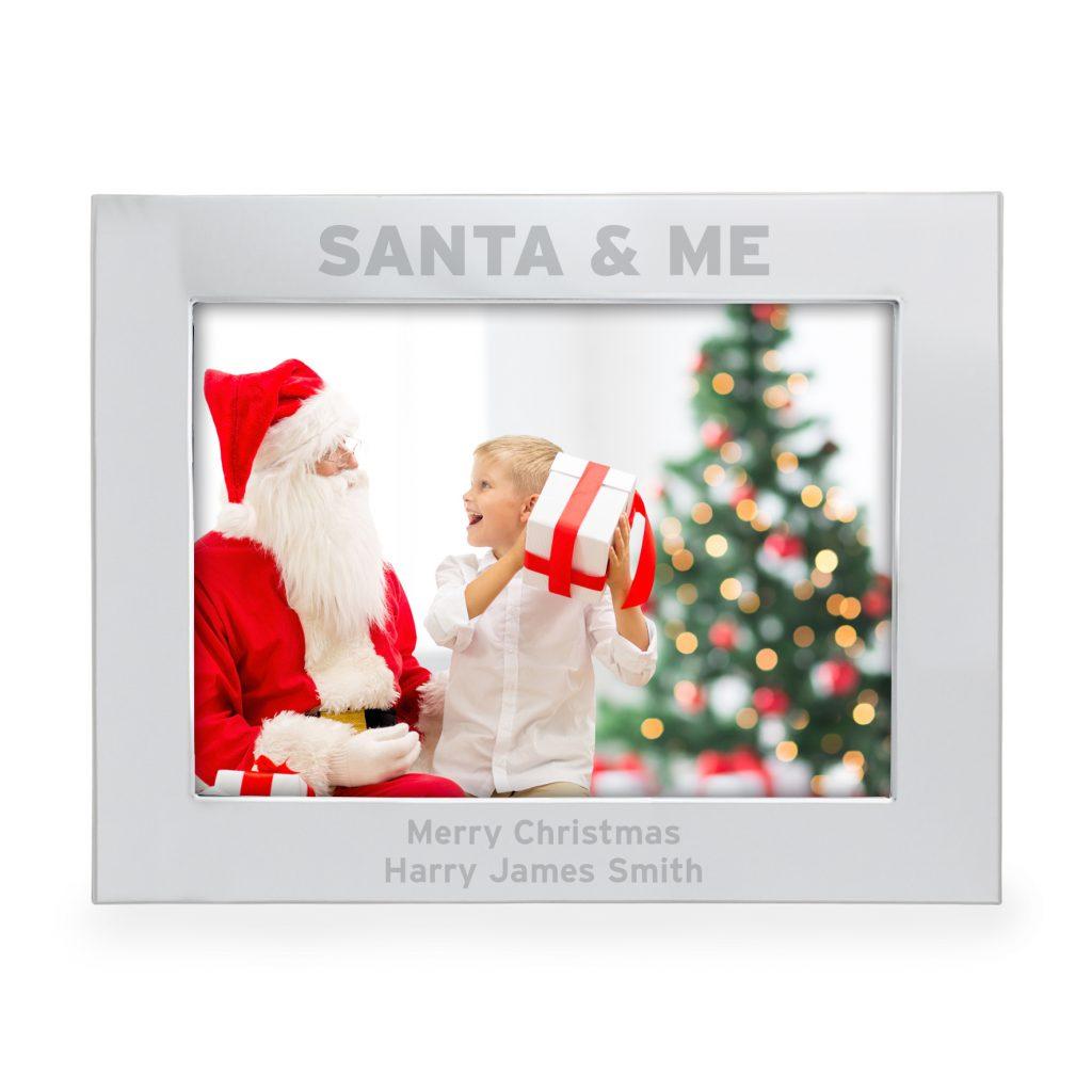 Santa & Me 5x7 Landscape Photo Frame