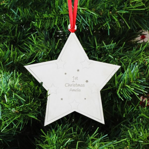 1st Christmas Star Tree Decoration