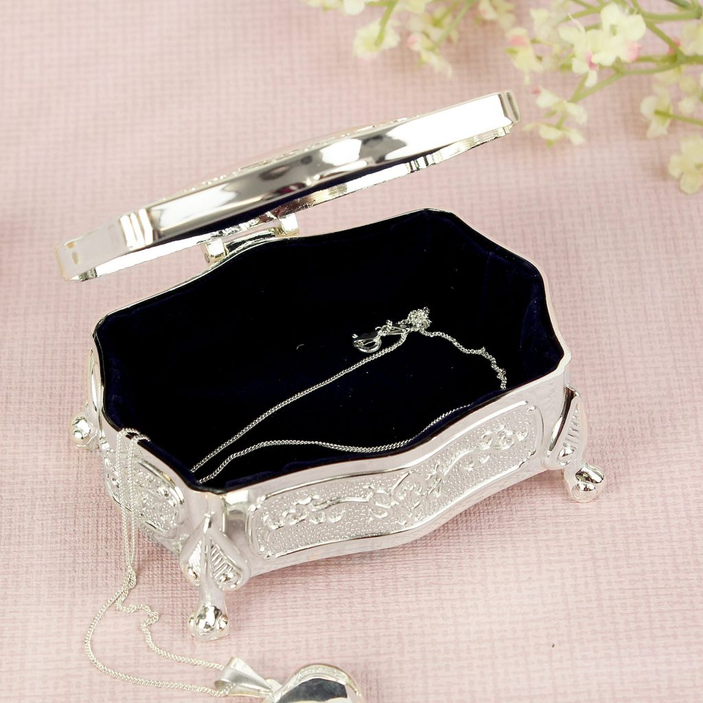 Swirls & Hearts Small Antique Trinket Box