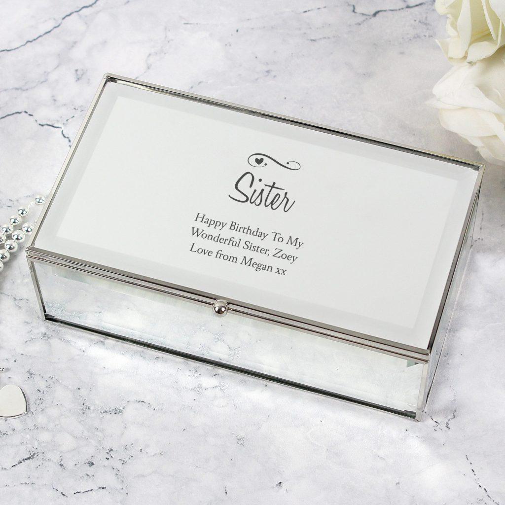 Swirls & Hearts Mirrored Jewellery Box