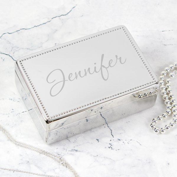 Name Rectangular Jewellery Box