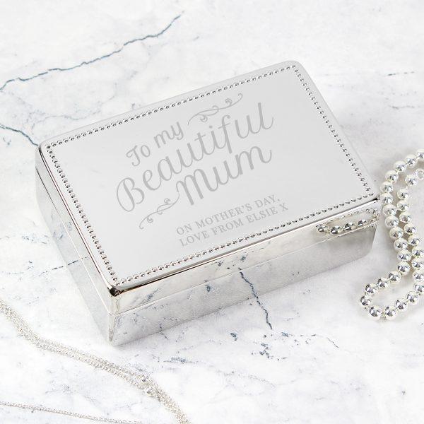 Beautiful Mum Rectangular Jewellery Box