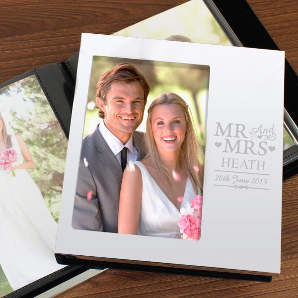 Mr & Mrs Photo Frame Album 6x4