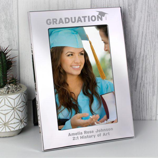 Silver 4x6 Graduation Photo Frame