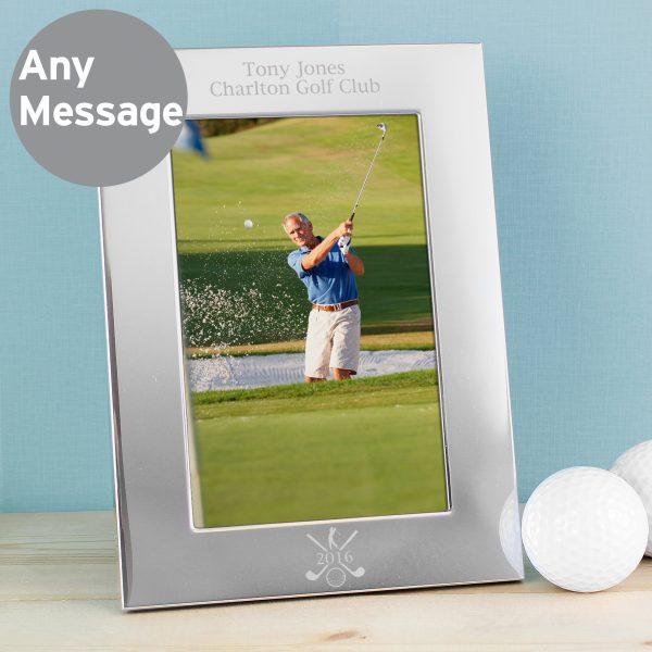 Silver Golf 6x4 Photo Frame