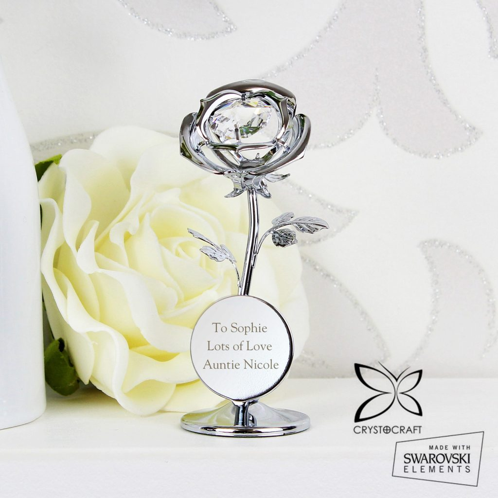 Crystocraft Rose Ornament