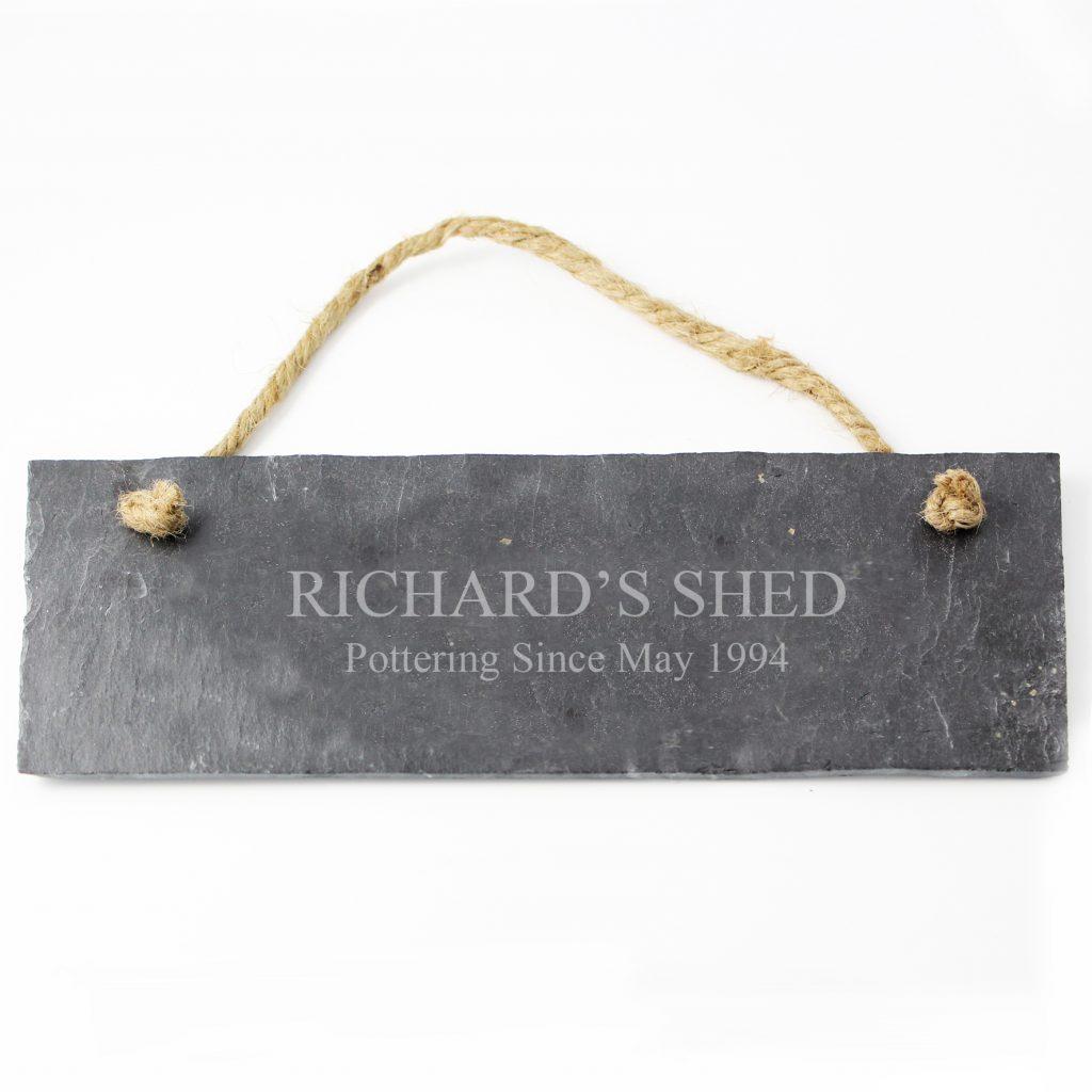 Engraved Hanging Slate Plaque