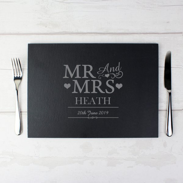 Mr & Mrs Slate Board