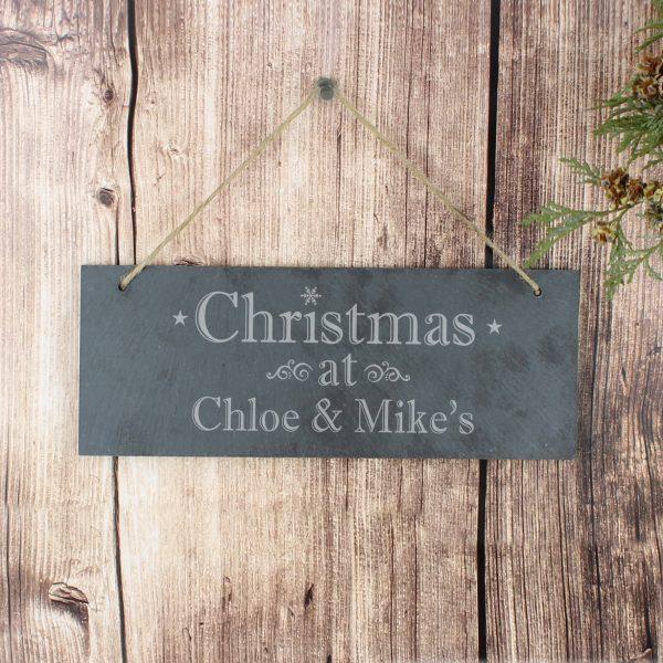 Christmas Hanging Slate Plaque