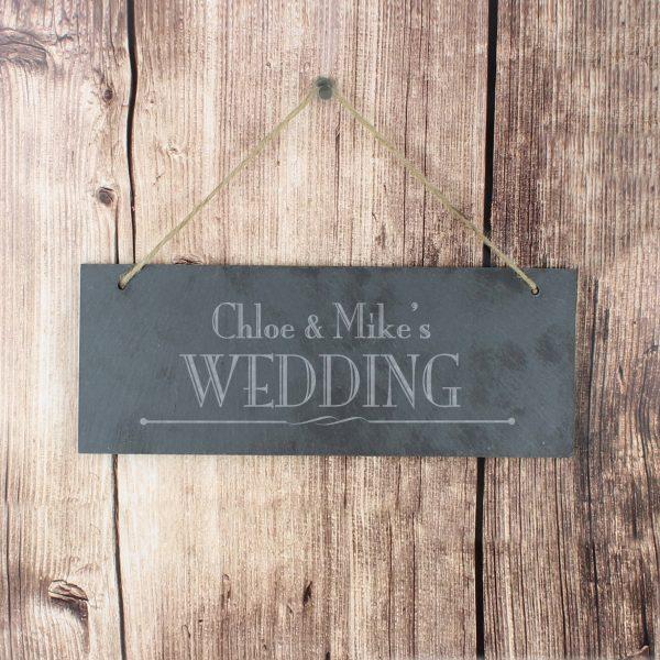 Wedding Hanging Slate Plaque