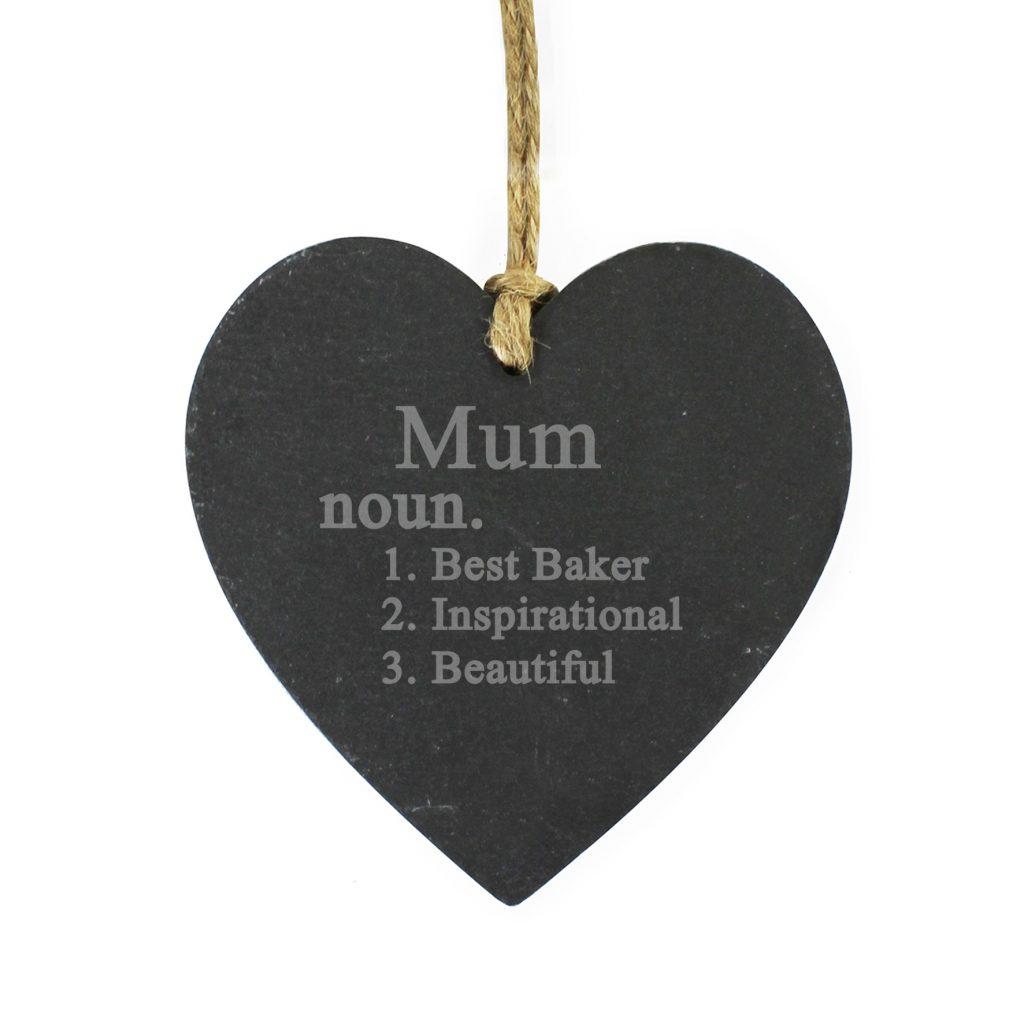 Word Definition Slate Heart Decoration