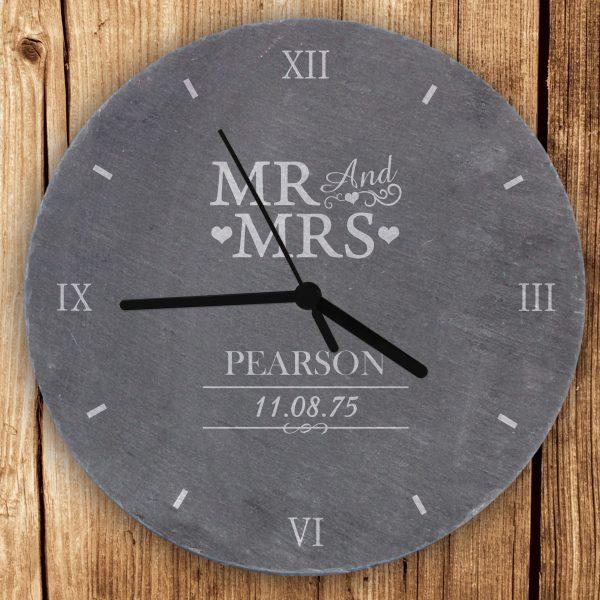 Mr & Mrs Slate Clock